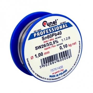 Припой Cynel 1.5mm/100g Sn60Pb40 LUT0009-100