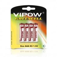 Батарейки 1,5 В VIPOW GREENCELL ААА  блістер 4 шт Польща BAT0080B