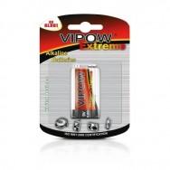 Батарея Крона VIPOW EXTREME 9V 6LR6 Польща  блістер 1 шт BAT0092B