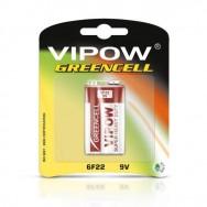 Батарея Крона VIPOW GREENCELL  9V  Польща  блістер 1 шт BAT0082B
