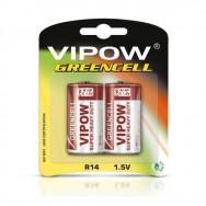 Батарейка 1,5 В VIPOW GREENCELL R14 блістер 2 шт Польща BAT0083B
