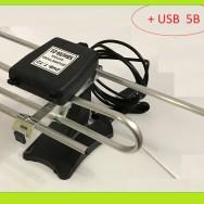 Антена телевізійна, кімнатна, активна DVB-T2 30 dB Хвиля-01-9999-5В