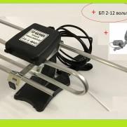 Антена телевізійна, кімнатна, активна DVB-T2 30 dB Хвиля-01-9999-12В
