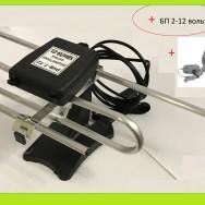 Антенна телевизионная, комнатная, активная DVB-T2 30 dB Хвиля-01-9999-12В