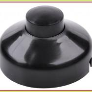 Кнопка для дзвінка 1A 250V  чорна PRK0077