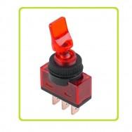 Тумблер з підсвіткою ASW-14D 12В  20А червоний PRK0016B
