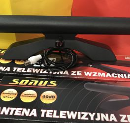 Антена SONUS 5V  кімнатна, активна DVB-T2 40 dB Польща tvson 5В