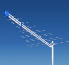 Антена логоперіодична, зовнішна 35 dB до 140 км DVBT LOG 2-69 Польща