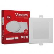 Світильник LED квадратний 144х144 мм, врізний  VESTUM 9W 4000K 220V 1-VS-5203