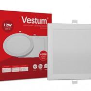 Світильник LED квадратний 167х167 мм, врізний  VESTUM 12W 4000K 220V 1-VS-5204