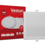 Світильник LED квадратний 218х218 мм, врізний  VESTUM 18W 4000K 220V 1-VS-5205