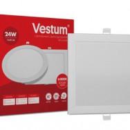 Світильник LED квадратний 292х292 мм, врізний  VESTUM 24W 4000K 220V 1-VS-5206