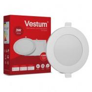 Світильник LED круглий 80 мм, врізний  VESTUM 3W 4000K 220V 1-VS-5101