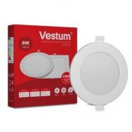 Світильник LED круглий 120 мм, врізний  VESTUM 6W 4000K 220V 1-VS-5102