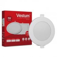 Світильник LED круглий 145 мм, врізний  VESTUM 9W 4000K 220V 1-VS-5103