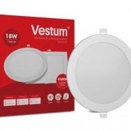 Світильник LED круглий 220 мм, врізний  VESTUM 18W 4000K 220V 1-VS-5105