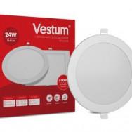 Світильник LED круглий 295 мм, врізний  VESTUM 24W 4000K 220V 1-VS-5106