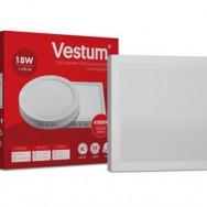 Світильник LED квадратний 205х205 мм, накладний  VESTUM 18W 4000K 220V 1-VS-5403