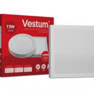 Світильник LED квадратний 160х160мм, накладний  VESTUM 12W 4000K 220V 1-VS-5402