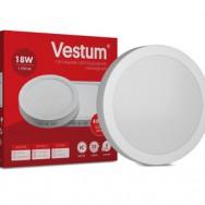 Світильник LED круглий 205 мм, накладний  VESTUM 18W 4000K 220V 1-VS-5303