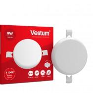 Світильник LED круглий 90 мм, врізний, без рамки  VESTUM 9W 4100K 220V 1-VS-5502
