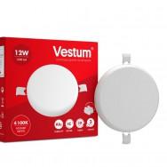 Світильник LED круглий 120 мм, врізний, без рамки  VESTUM 12W 4100K 220V 1-VS-5503