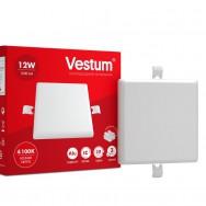 Світильник LED квадратний 120х120 мм, врізний, без рамки  VESTUM 12W 4100K 220V 1-VS-5603