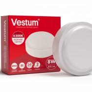 Світильник Led жкх круглий 8W 220V 4500K  Vestum 1-VS-7101