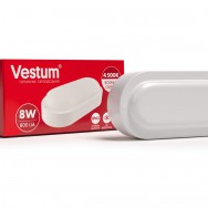 Світильник Led жкх овал 8W 220V 4500K  Vestum 1-VS-7201