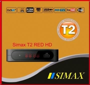 Тюнер цифровой Т2 Simax Red