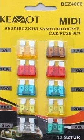Автомобільні запобіжники набір BEZ4006