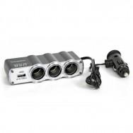 Розгалуджувач прикурювача 3 гнізда+USB ZLA0414