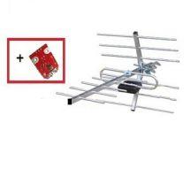 Антена телевізійна, зовнішня  DVB-T2+підсилювач 9999 АТ-11Н