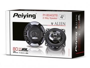 """Автомобільні динаміки 80 Вт  4 """" Peiying Alien PY-BG402T6"""