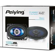 """Автомобільні динаміки Peiying 100 Вт 4""""x6""""  PYAQ462C"""