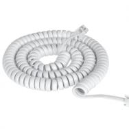 Кабель  Телефонний 25 FT білий (TEL 0032F-7.5) TEL0032F-7,5