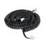 Кабель  Телефонний 25 FT чорний (TEL 0032A-7.5) TEL0032A-7.5
