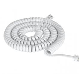 Кабель  Телефонний 7 FT білий (TEL 0032F-2.1) TEL0032F-2.1