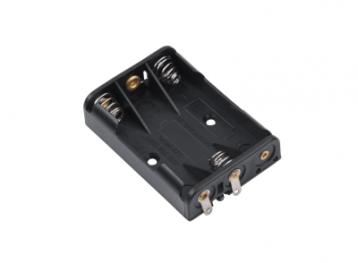 Держатель для 3 батареек типа ААA плоский  GNI0056