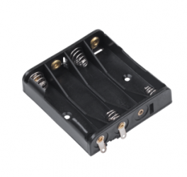 Держатель для 4 батареек типа АА плоский  GNI0051