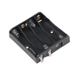 Держатель для 4 батареек типа ААА плоский  GNI0054