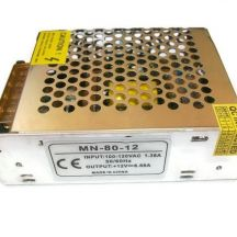 Блок питания 6,6А, 80 Вт, 12 В MN-80-12