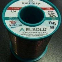 Припой ELSOLD Sn60 Pb36 Ag4 1кг, 1,0 мм 5081
