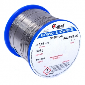 Припій Cynel 1mm/500g Sn60Pb40 LUT0007-500